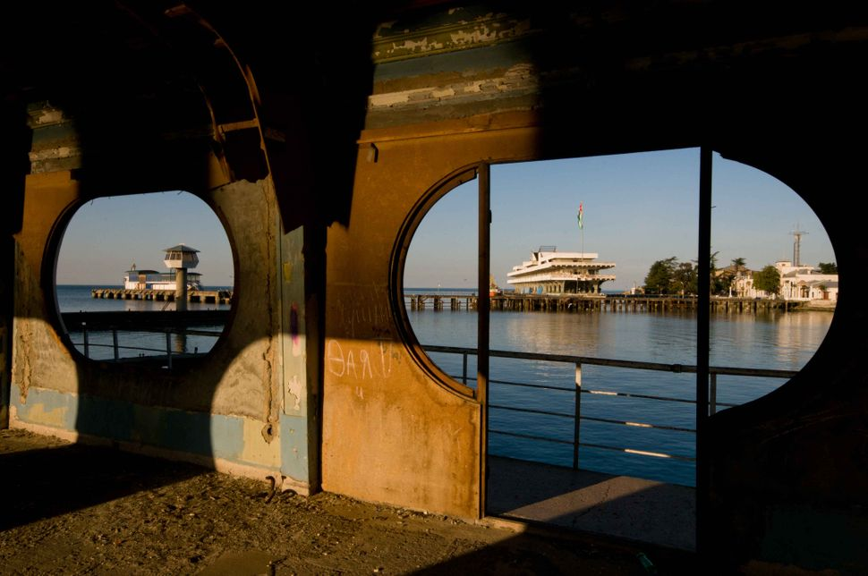 Abandoned building on Sukhumi pier