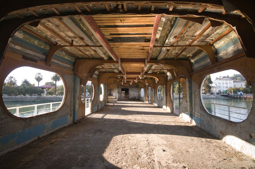 Hollow Sukhumi pier building 2