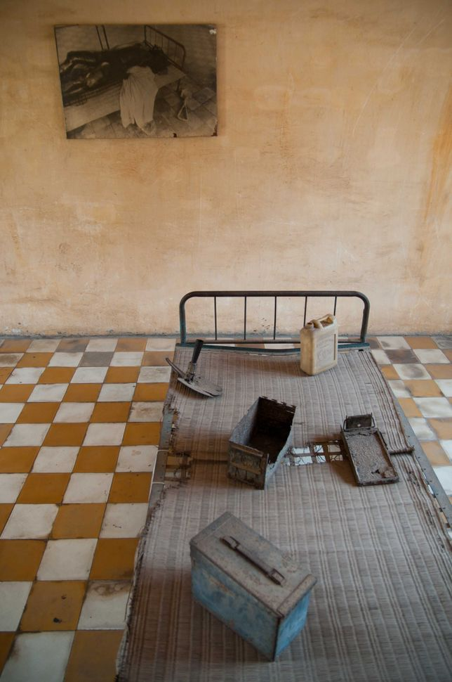 Tuol Sleng Genocide Museum - Interrogation cell 2