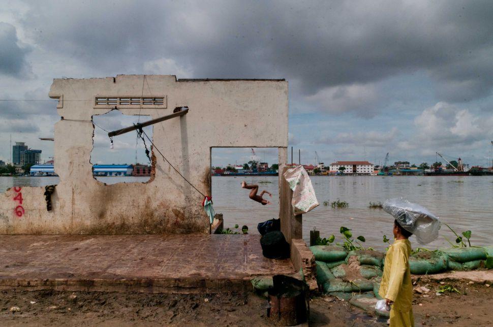 Bathing in the Mekong 3
