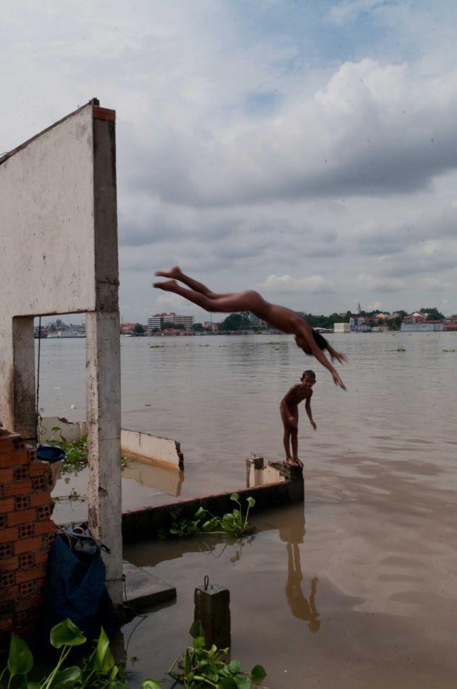 Bathing in the Mekong 5