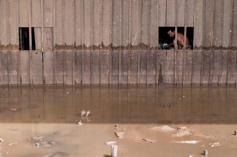 Flooded house, Phnom Penh