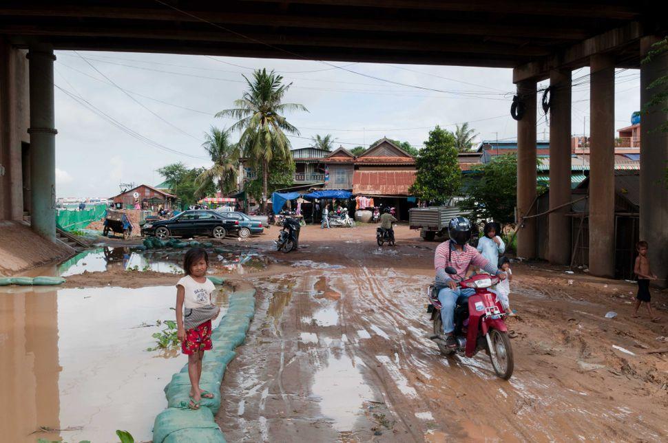 Flooded road, Phnom Penh