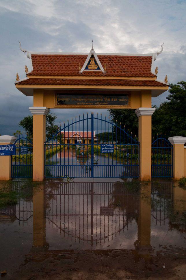 Flooded school, Preak Leap, 8