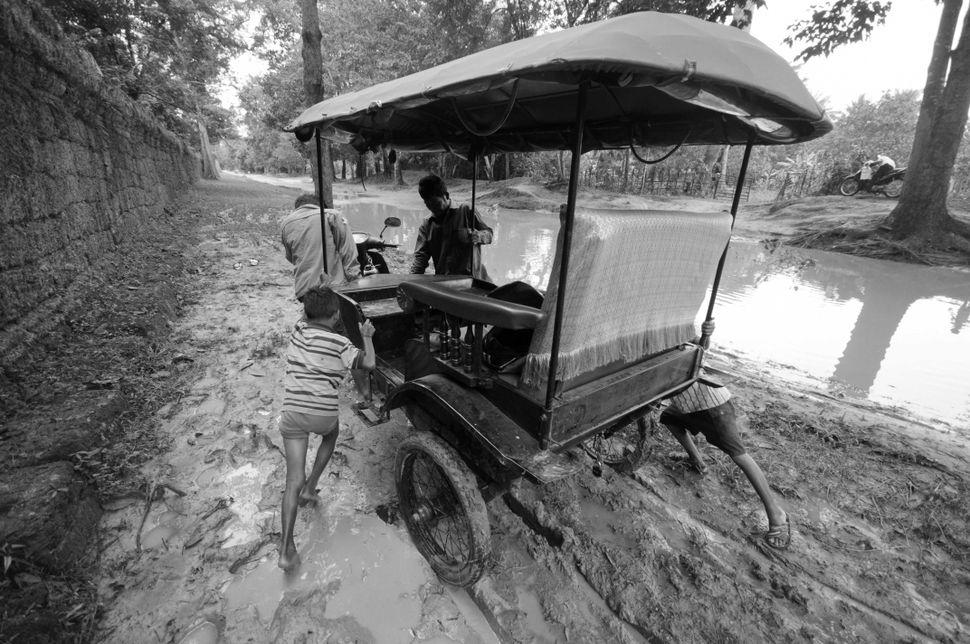 Tuk-tuk in the mud, Siem Reap
