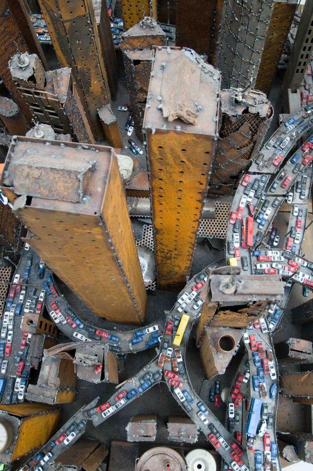 Shanghai aerial view (Zhong Kangjun installation) 2
