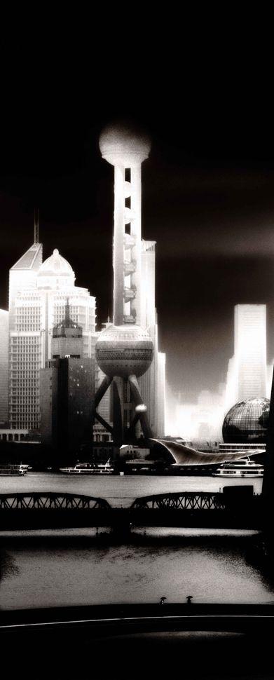 Pudong skyline - Rain