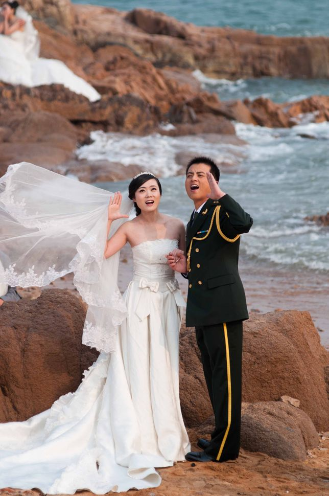 Badaguan, PLA officer wedding, Qingdao