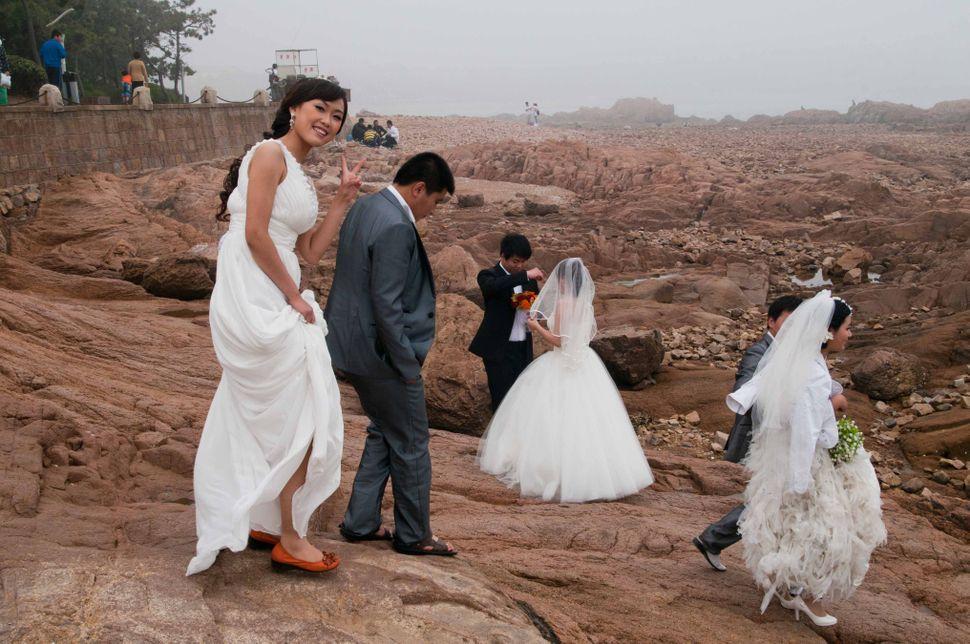 Badaguan, winking bride, Qingdao