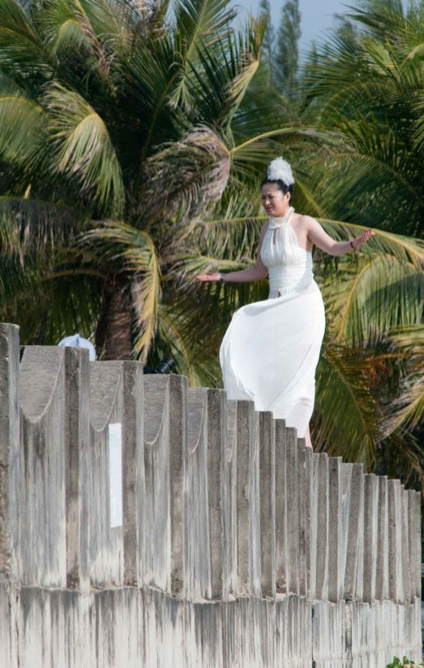 Bride on the wall