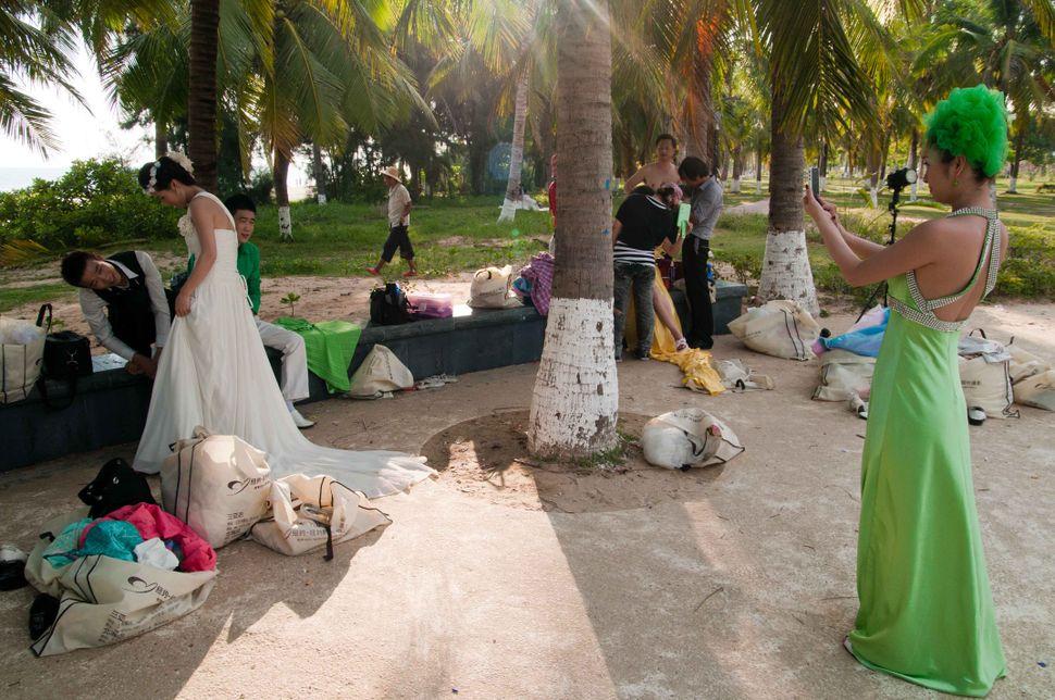 Bride photographing, Sanya