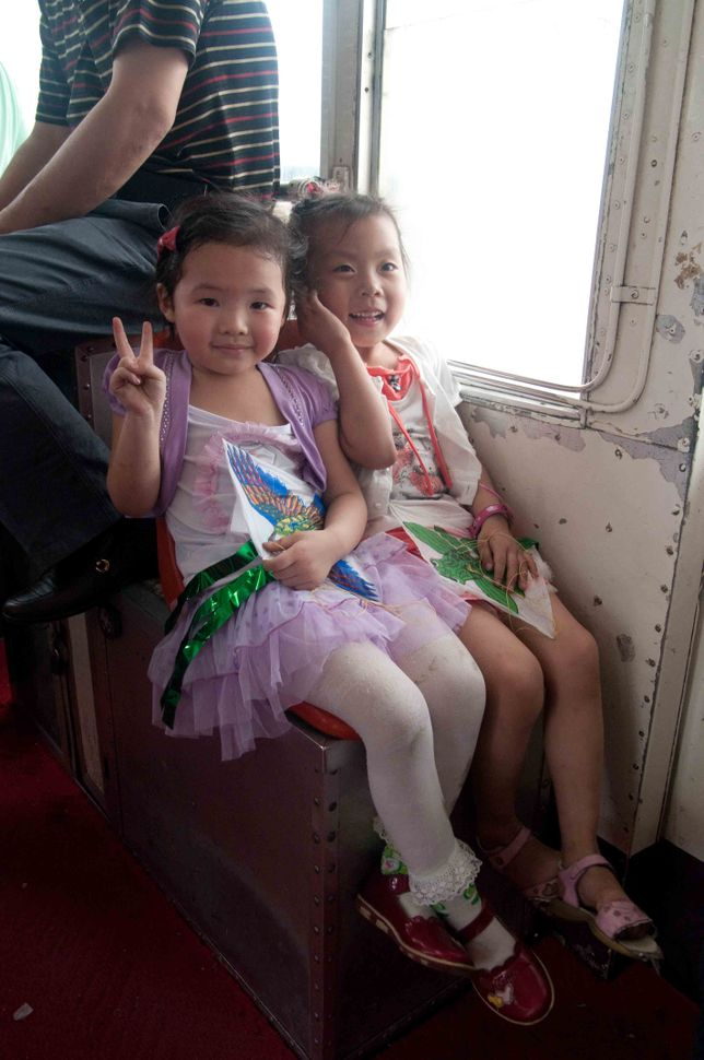 Children on the cablecar