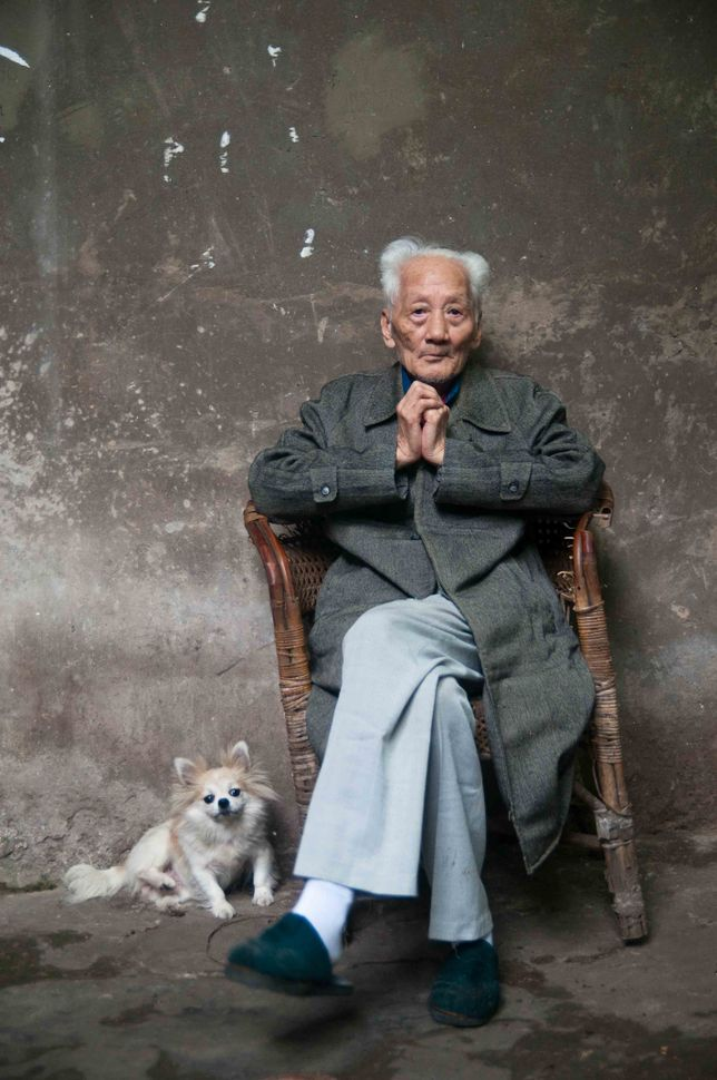 Old man with dog