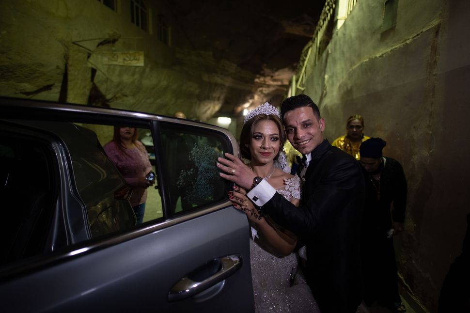 Coptic wedding in Garbage City (The Cave Church in the St. Simon Monastery)