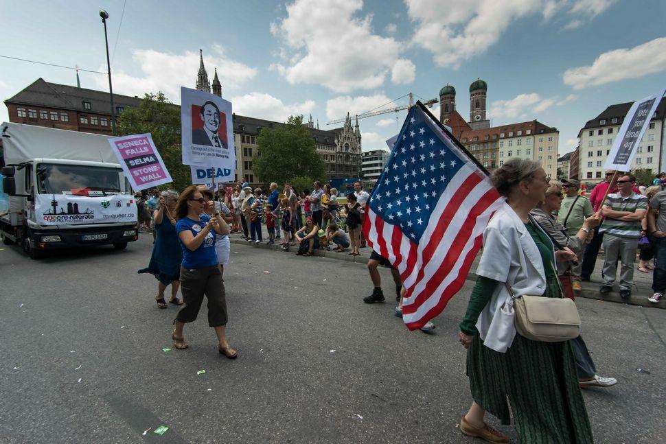 US demonstrators