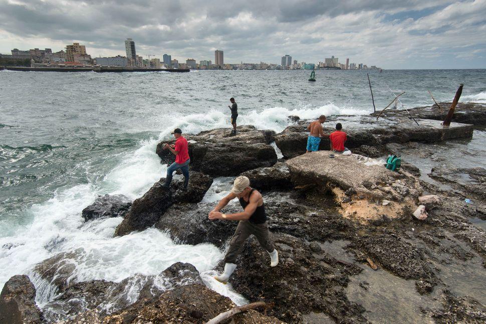 Anglers near Castillo del Morro, Havana, 3