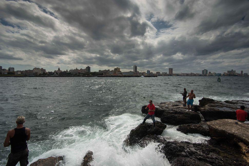 Anglers near Castillo del Morro, Havana, 4