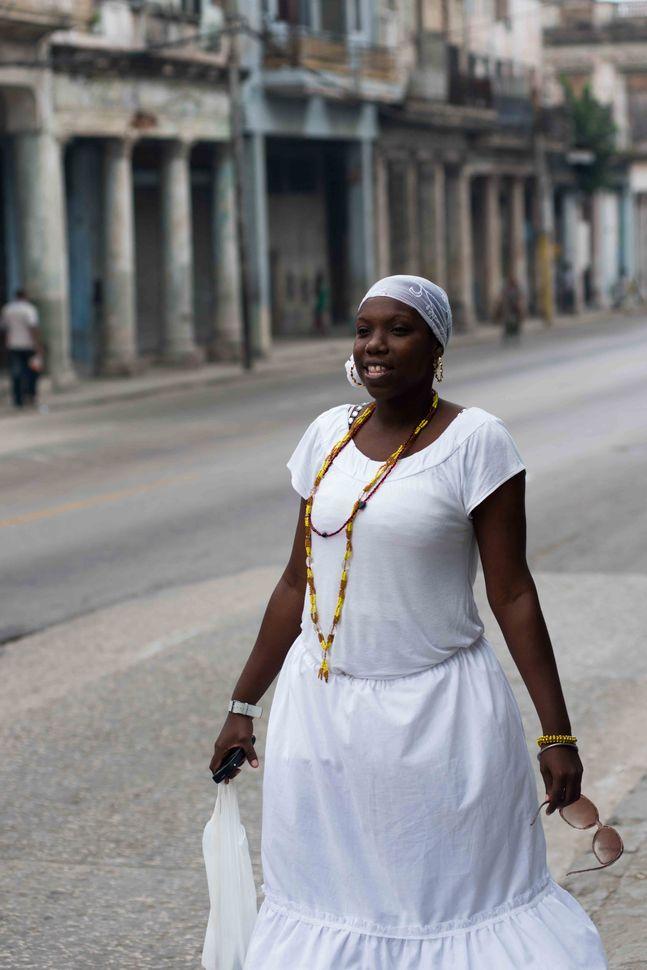 Woman in white, Havana