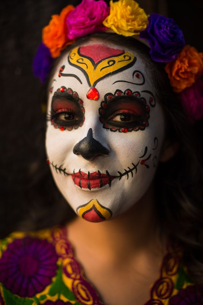 Girl in Catrina mask, Guadalajara