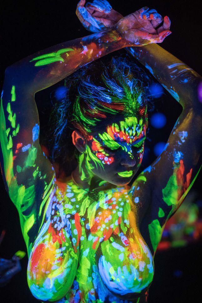 Fluorescent portraits - Kiev, November 2018