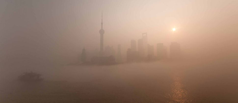Pudong in the fog