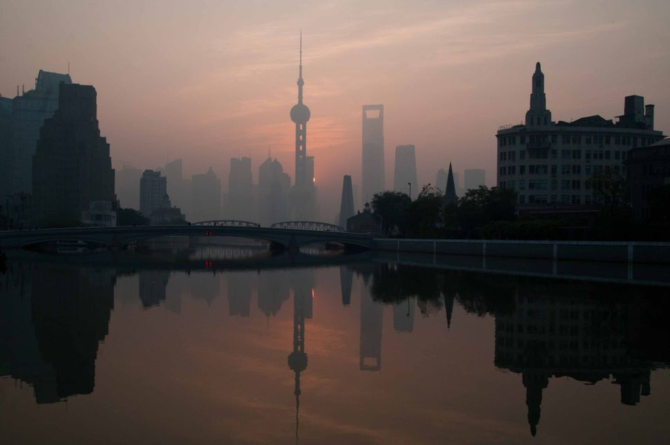 Pudong reflection in the Suzhou river 2