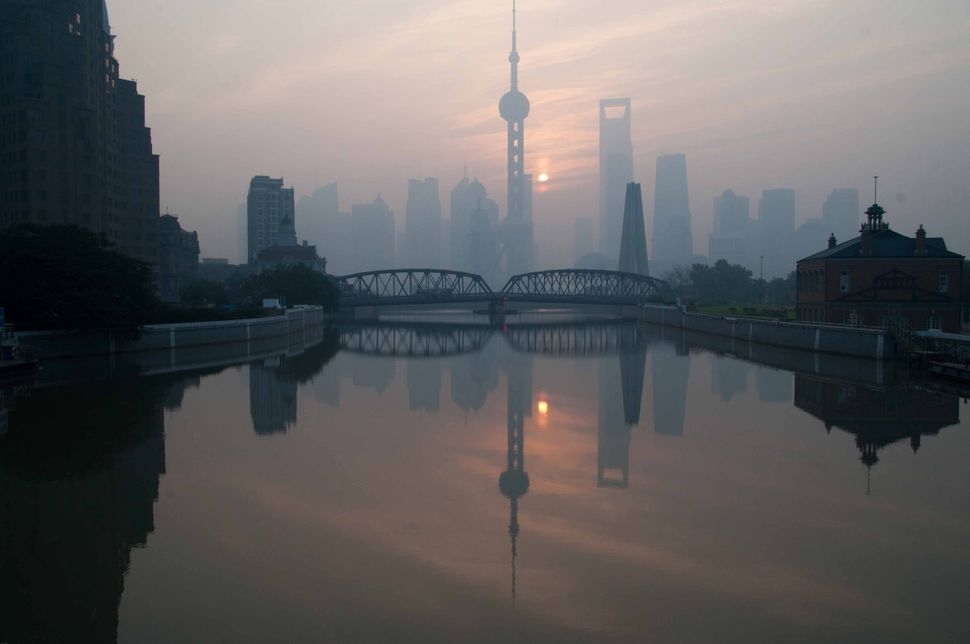 Pudong reflection in the Suzhou river