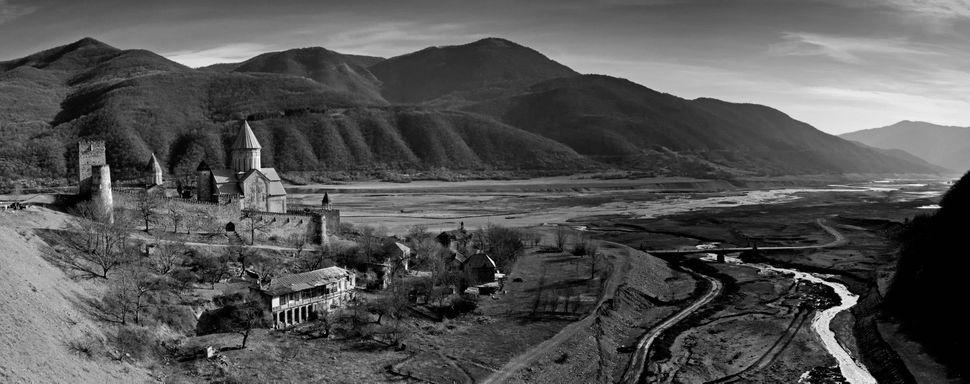 Ananuri fortress panorama
