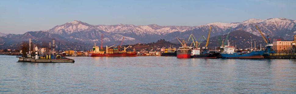 Batumi harbor panorama