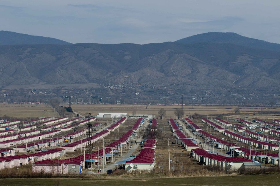 Camp for refugees from Ossetia 1