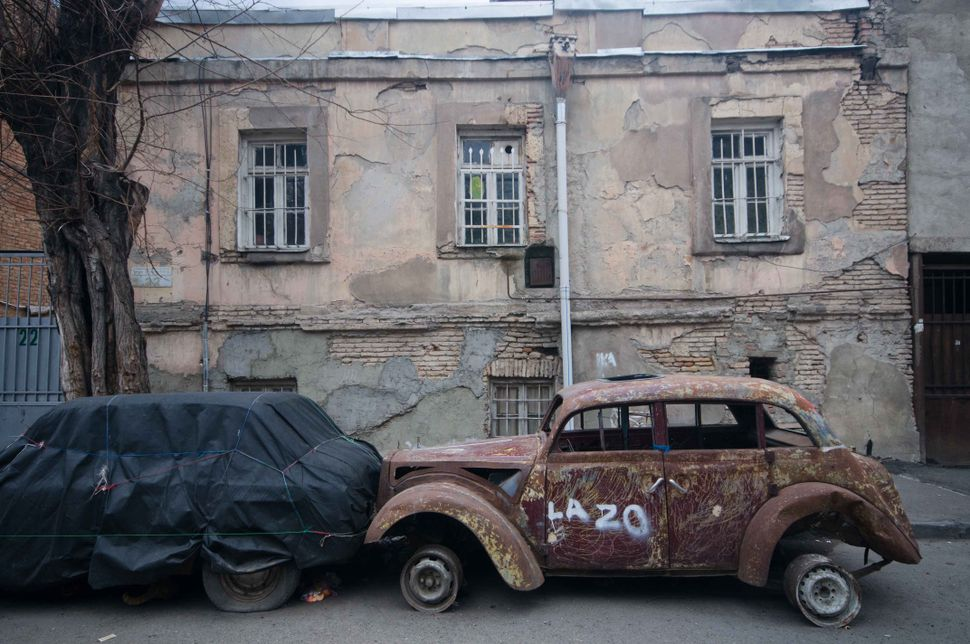 Old car, old building, Tbilisi