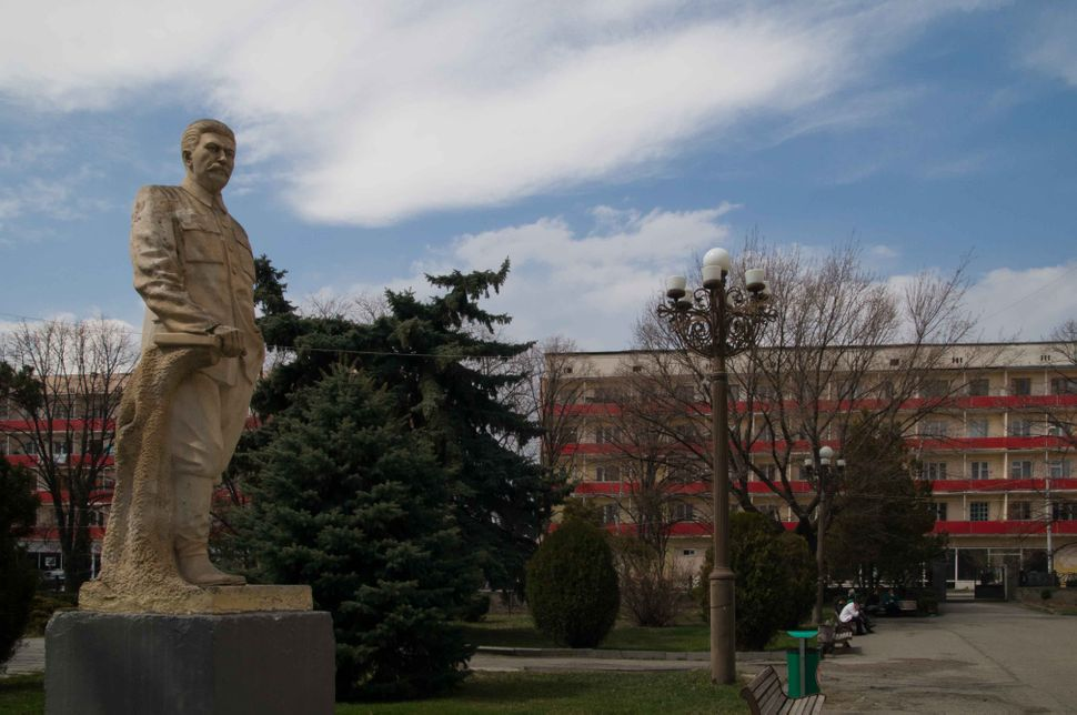 Stalin museum, Gori, Stalin statue, apartment blocks