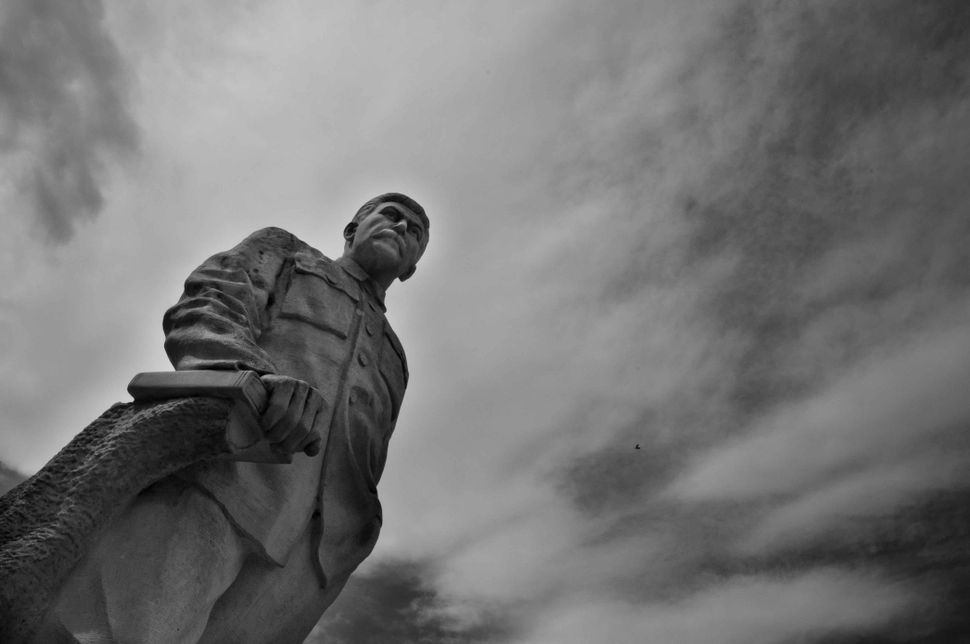 Stalin museum, Gori, Stalin statue, close-up 2