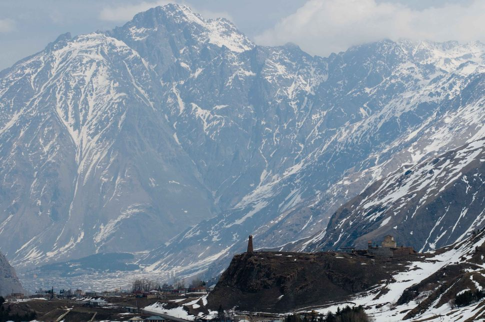 Stone tower between Gudauri and Kazbegi 2