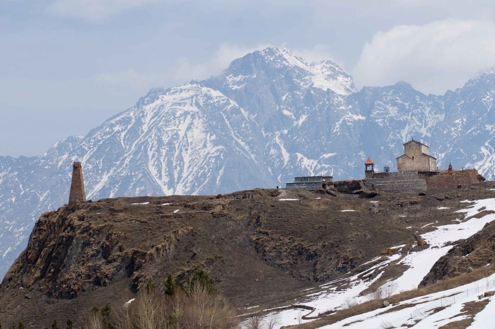 Stone tower between Gudauri and Kazbegi 3
