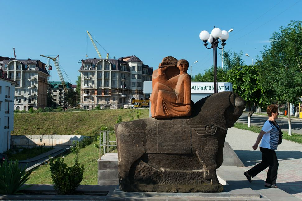 New building complexes line up the streets of Stepanakert