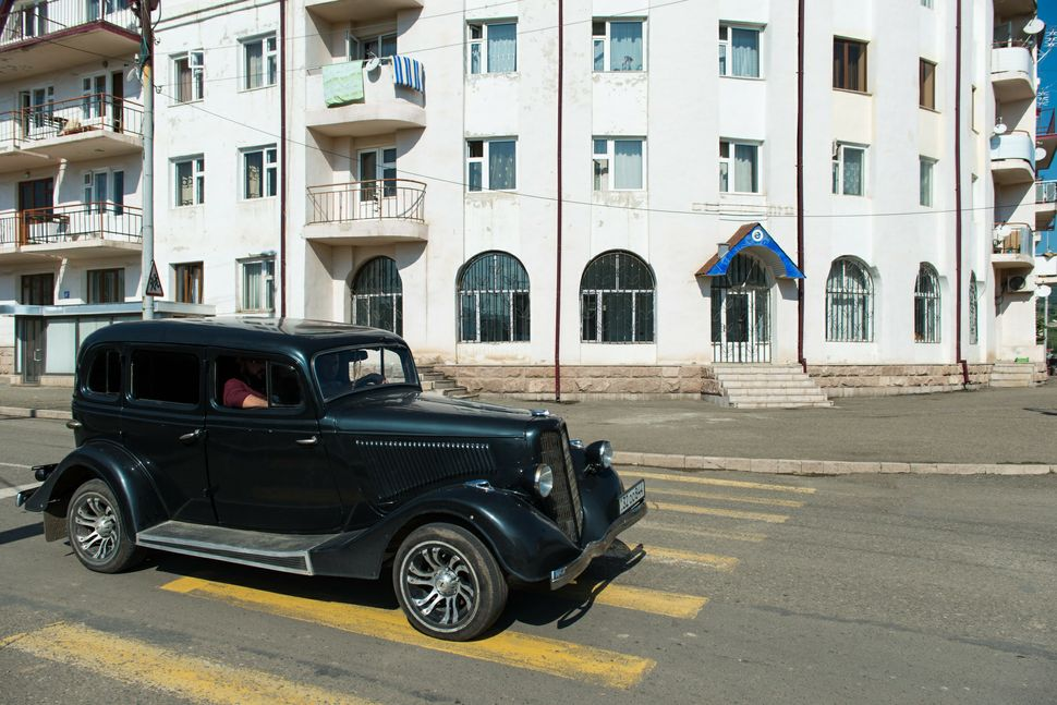 Old limousine in Stepanakert
