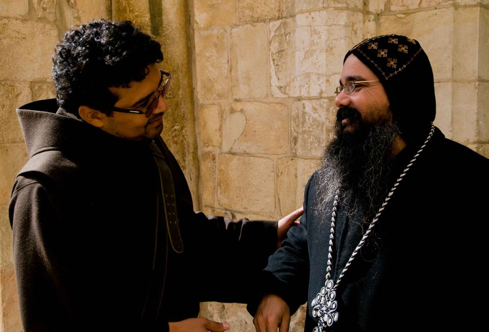 Egyptian Coptic priest and Colombian Catholic padre