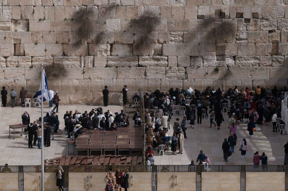 Men/Women separation at the Wailing Wall