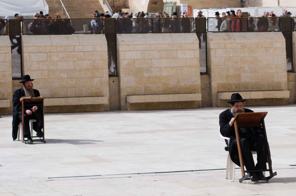 Orthodox Jews at the Wailing Wall