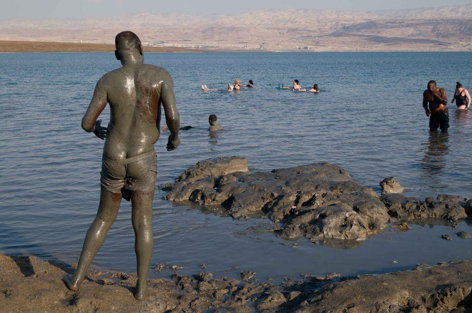 Ugandan bathers at the Dead Sea 3
