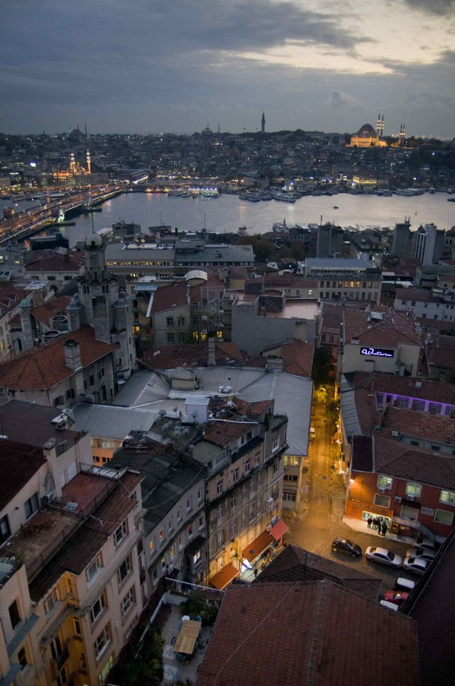 Dusk seen from Galata Tower