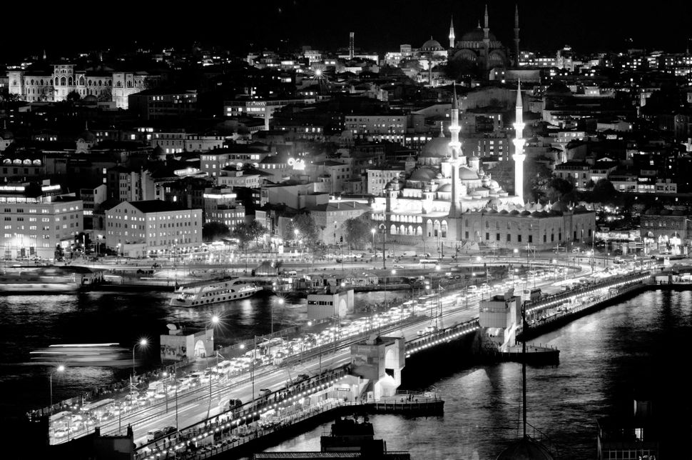 Galata Bridge and Eminonü Mosque seen from Galata Tower