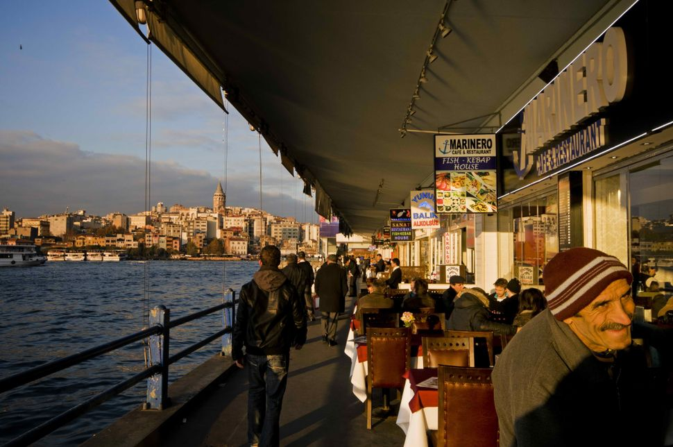 Seller on the Galata Bridge