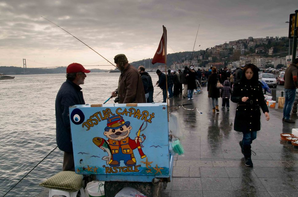 Sunday anglers in Ortaköy 2