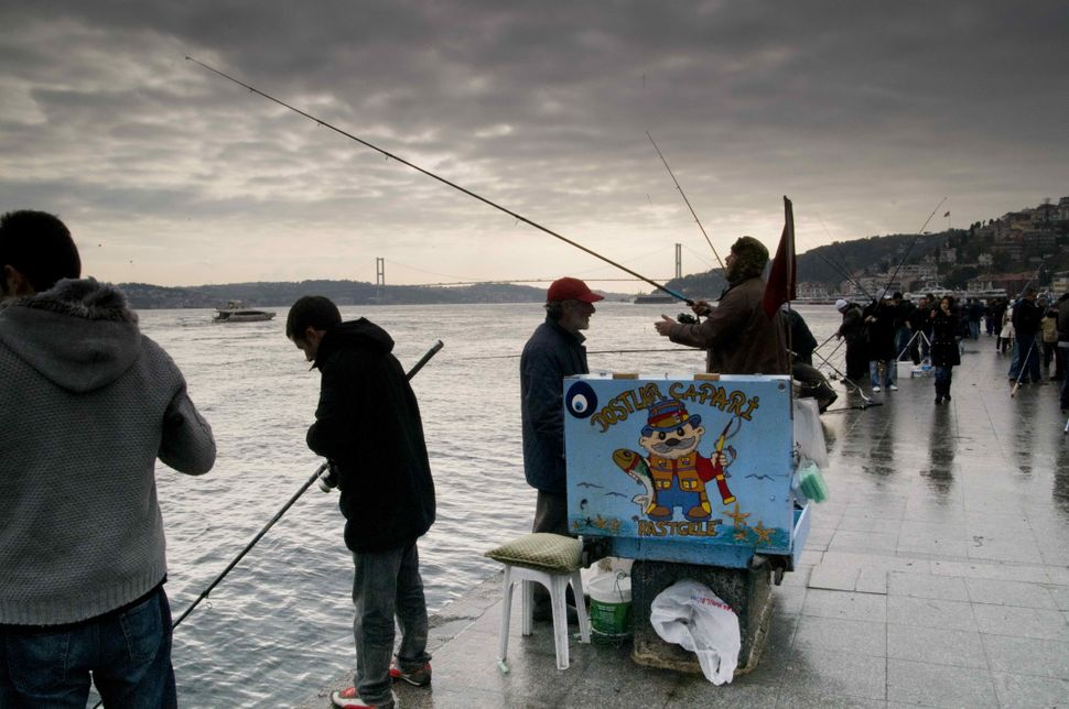 Sunday anglers in Ortaköy