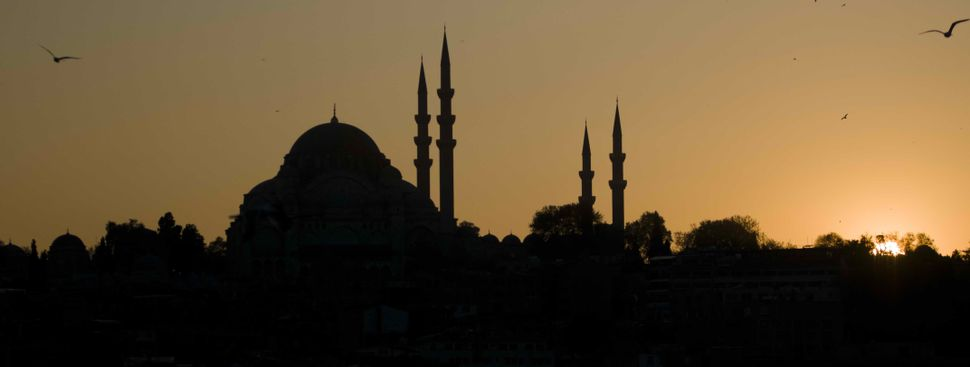 Sunset with minarets
