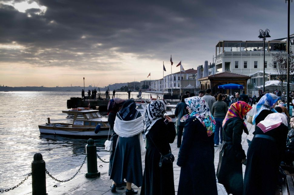 Veiled women at Ortaköy
