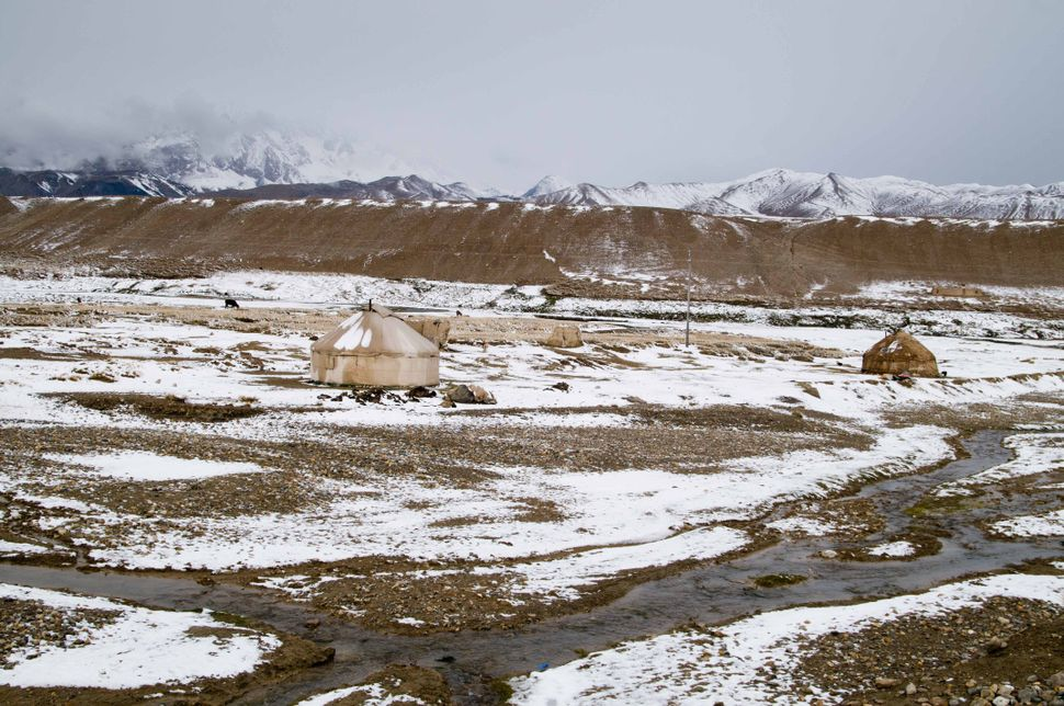 Yurts along the Karakorum Highway