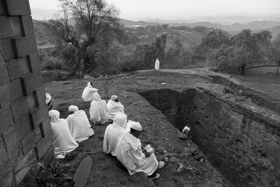 Morning prayers in Lalibela